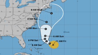 Southern New England in New 'Cone Of Probability' for Jose