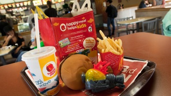 Cheeseburgers, Chocolate Milk Out of McDonald's Happy Meals