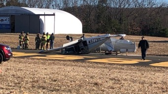 Plane Collides With Vehicle at Conn. Airport