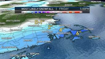 Friday Storm Could Bring 6&quot; of Snow for Some<br />