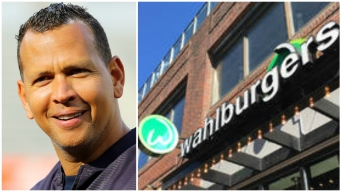 A-Rod Serves Up Burgers After Losing Bet to Mark Wahlberg