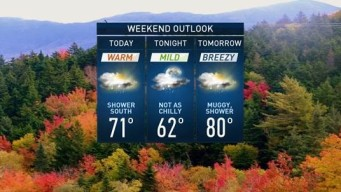 Mild Mid-October Weekend, Chance for Showers At Times