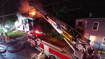 Firefighter Injured Battling Fire in Vacant Building in Willimantic, Conn.