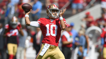 49ers Fear QB Garoppolo Sustained Season-Ending ACL Injury