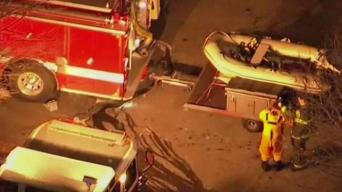 Hazmat Responding to Fuel Spill in Charles River