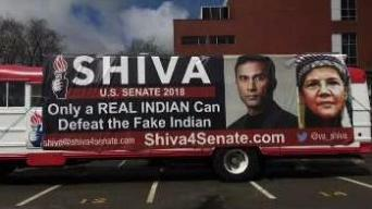 Senate Candidate Shiva Ayyadurai Defends Bus Sign