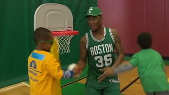 Horizons for Homess Children: Celtics Visit Kids