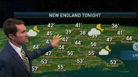 <p>Today (Saturday): Gradual clearing. Breezy. Cool. Highs in the upper 60s to low 70s.<br /> Tonight: Mostly cloudy. Lows in the 40s and 50s.<br /> Sunday: Sunny. Highs in the mid to upper 60s.</p>