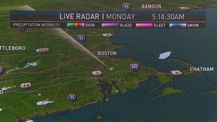 <p>Today (Monday): Becoming sunny and cool. Highs around 40.<br /> Overnight Monday Night: Clouds thicken with lows around 30.<br /> Tuesday: Breezy and milder. Light rain. Highs in the mid 40s.</p>