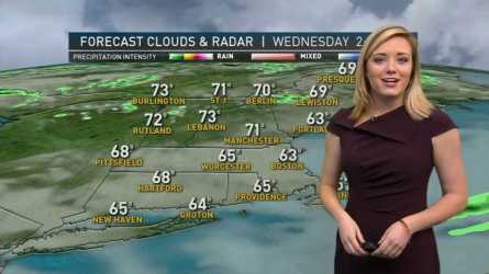 <p>Rest of Today (Wednesday): Mostly cloudy with highs into the low to mid 60s, cooler along the coast.</p><p>Overnight Wednesday Night: Mostly cloudy with lows into the lower 50s.</p><p>Tomorrow (Thursday): Dry start with rain moving in by midday and extending into the evening.  Highs in the upper 50s.</p>