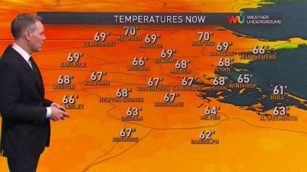 <p>Thursday evening: Scattered showers and storms. Temperatures around 70.</p><p>Overnight Thursday: Showers and thunder diminish after midnight. Lows in the 50s.</p><p>Friday: Sun to clouds, morning highs around 70, then cooling a bit with some sprinkles.</p>