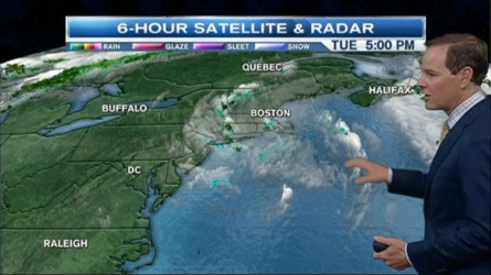 Any left over showers will diminish by midnight tonight, leaving the skies mostly cloudy with patchy fog, with lows in the 50s.  Wednesday brings us summer heat with highs in the 80s and afternoon thunder in the north.  Thursday will be mostly sunny with highs in the lower 80s.  A sea breeze will keep the coastline in the 70s, and northwest winds from five to 10 mph.
