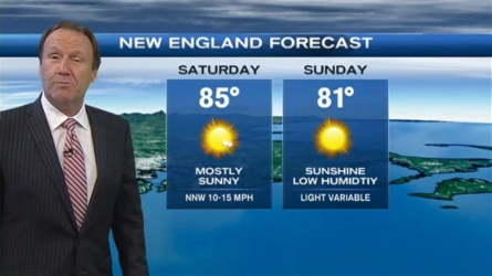 Tonight...Clearing skies & dropping humidity. Lows in the 60s south, 50s north. Northwest winds 5 to 10 mph. Saturday...Plenty of sunshine, comfortable humidity & warm.  Highs in the 80s. North winds 5 to 10 mph. Sea breezes along both coasts. Sunday... Mild and dry with plenty of sun. Highs in the low to mid 80s for most, 70s Cape & islands. South-southeast winds 5 to 10 mph.