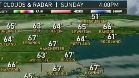<p>Sunday: Mostly sunny. Highs in the 60s to near 70. Sunday Night: Partly cloudy. Lows in the 40s and 50s. Monday: Partly cloudy, breezy. Highs in the 50s to near 60.</p>