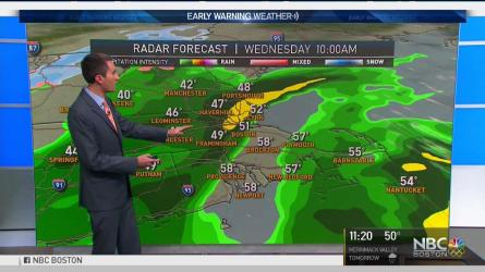 <p>Tuesday night: Clouds increase. Lows in the 30s and 40s. Wednesday: Mostly cloudy, periods of rain. Highs in the 40s and 50s. Thursday: Chilly and sunny. Highs around 40.</p>