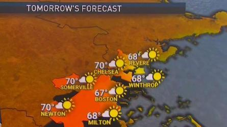 <p>From the NBC10 Boston Weather Center&hellip;  This Evening:  Breezy, clear.  Upper 60s.  Overnight Tuesday Night:  Starry sky, breezy. Lows in the 50s. Wednesday:  Mostly sunny, not quite as windy. Highs around 70.   Cape Cod Radio Forecast  This Evening:  Breezy, clear.  Mid 60s. Overnight Tuesday Night:  Starry sky, breezy. Lows in the upper 40s. Wednesday:  Mostly sunny, not quite as windy. Highs in the low to mid 60s.</p>