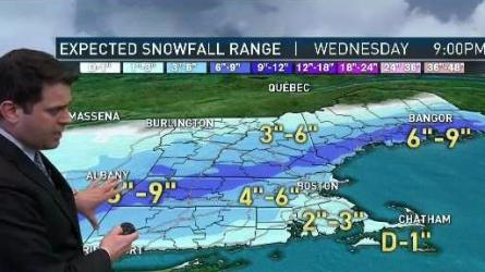 <p>Snow, mixing with rain southeast. Highs in the 30s. Overnight Wednesday: Clearing, icy roads north. Lows in the teens.</p>
