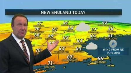 <p>Thursday: Clouds and sprinkles to splashes of sun. Highs in the 60s.</p><p>Overnight Thursday: Mostly cloudy. Lows in the 50s.</p><p>Friday: Breezy, a bit milder, clouds and limited sun. Highs in the 70s.</p>
