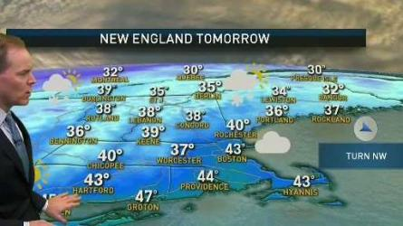 <p>Sunday: Mostly cloudy, showers return. Some mixing north &amp; west. Highs in the 30s and 40s. Sunday Night: Showers near the coast, snow and mix inland. Lows in the 30s to around 40. Monday: Early wintry mix, then mostly cloudy. Highs around 40.</p>