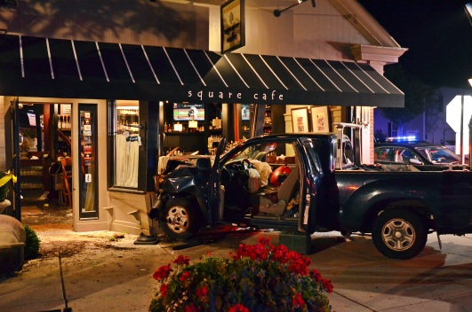 3 Injured After Truck Drives Into Restaurant