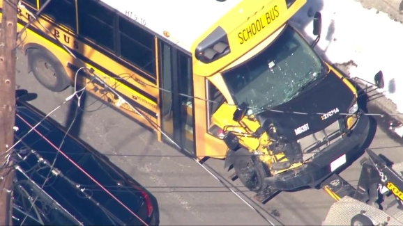 Police Respond to Chelsea School Bus Crash