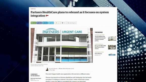 BBJ Report: Partners HealthCare Plans to Rebrand