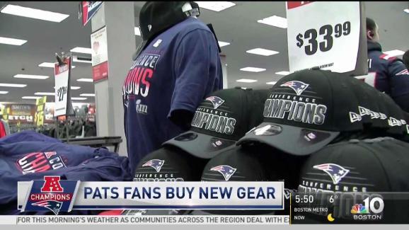 Patriots Fans Buy New AFC Champion Gear - NECN 5449cc88d