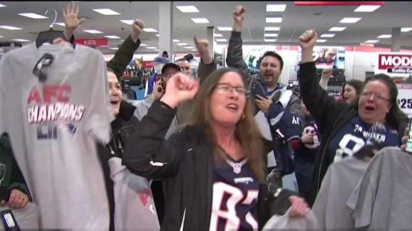 Patriots Fans Pack Modell s for AFC Championship Gear - NECN 55cac946d