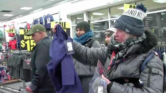 Pats Fans Buy AFC Championship Gear at Modell s - NECN 8b41a15a6