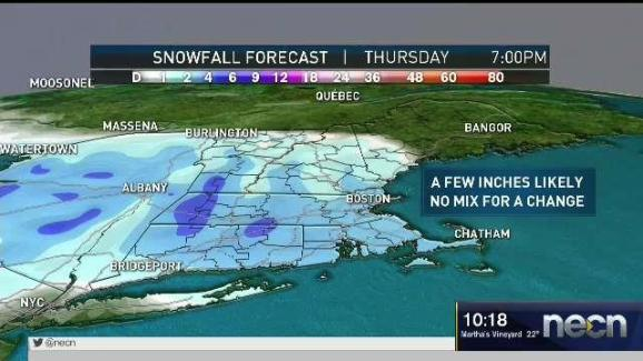 Weather Forecast Cold Before Snow Necn