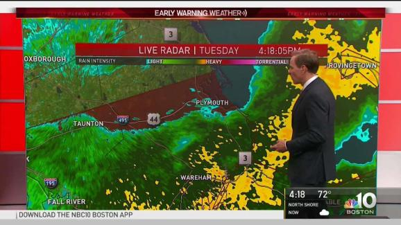 Weather Forecast: Downpours Moving Out - NECN
