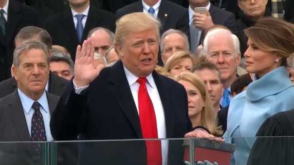 Trump Takes Oath of Office Amid Pomp and Protests