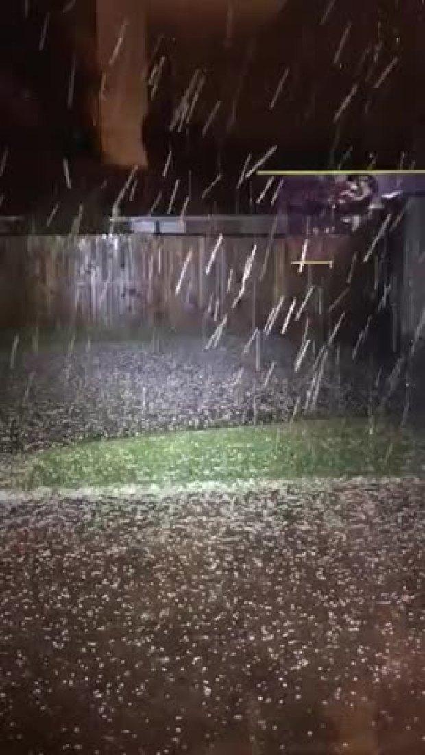 Big Hail Recorded in Granbury