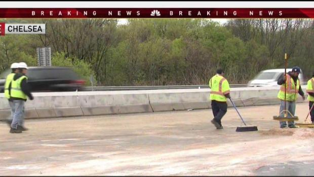 [NECN] Jackknifed Truck Closes Down Route 1