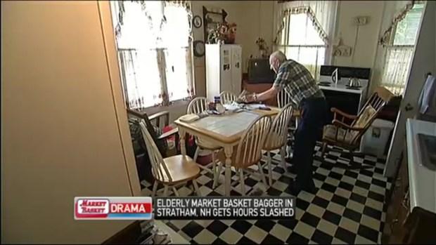 [NECN] 94-Year-Old Market Basket Bagger Gets Hours Slashed