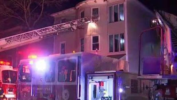 [NECN] 14 Displaced, 7 Injured in Worcester House Fire