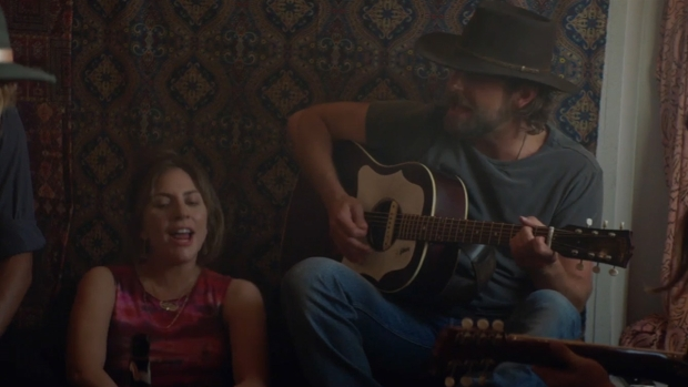 [NATL] 'A Star Is Born': See Bradley Cooper, Lady Gaga In a Jam Session (Exclusive)
