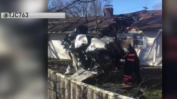 [NECN] 20-Year-Old Killed When Car Ends Up in Holbrook House