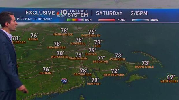 [NECN] Sunny, Warm Saturday; Showers Possible Overnight
