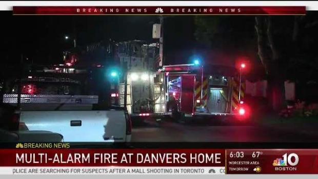 [NECN] 2 Alarm Blaze Destroys Family Home Garage in Danvers