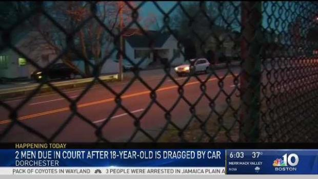 [NECN] 2 Men Due in Court After Teen Dragged by Car in Dorchester
