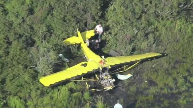 [NECN] 2 Pulled From Wreckage of Hanson Plane Crash