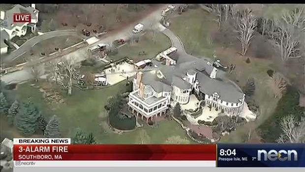 [NECN] 3-Alarm Blaze Chars Home in Southborough, Mass.