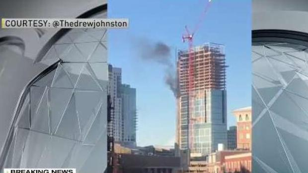 [NECN] 3 Alarm Fire at Boston High Rise Under Construction