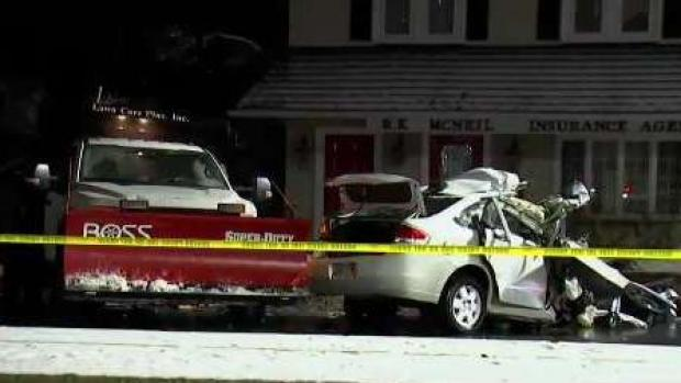 [NECN] 3 Hospitalized After Crash With Plow in West Roxbury