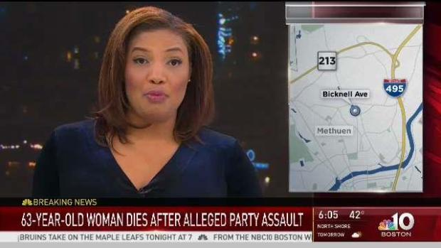 [NECN] 63-Year-Old Woman Dies After Alleged Party Assault