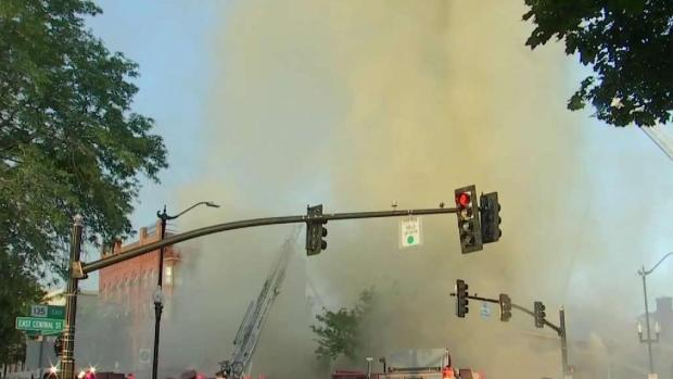 [NECN] 8-Alarm Fire in Natick Impacts Several Businesses