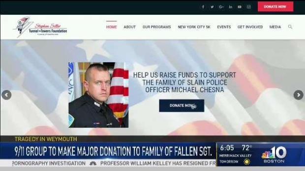 [NECN] Foundation Announces Major Donation to Slain Sgt.'s Family