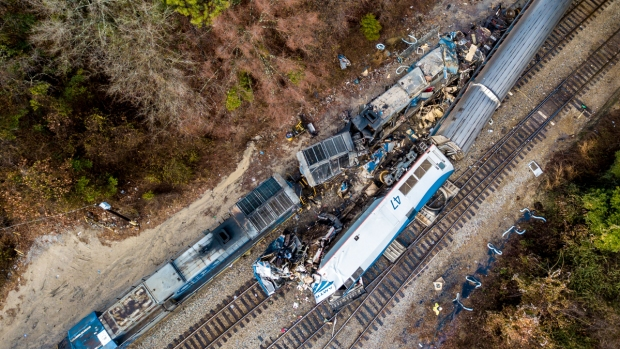 Images Show Damage After Amtrak Crash in S. Carolina