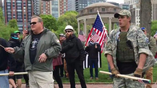 Counterprotesters arrive ahead of Boston 'Free Speech Rally'